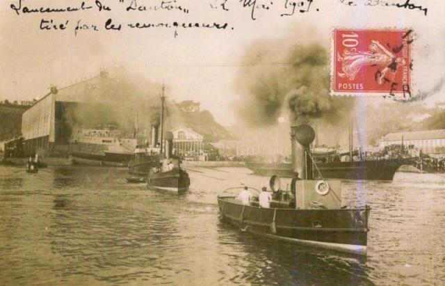 La mise à l'eau des grands navires  Danton12