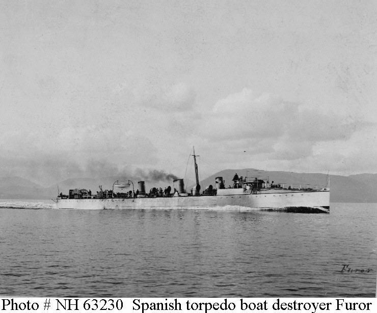 Destroyers; torpilleurs et avisos torpilleurs espagnols Furor_10
