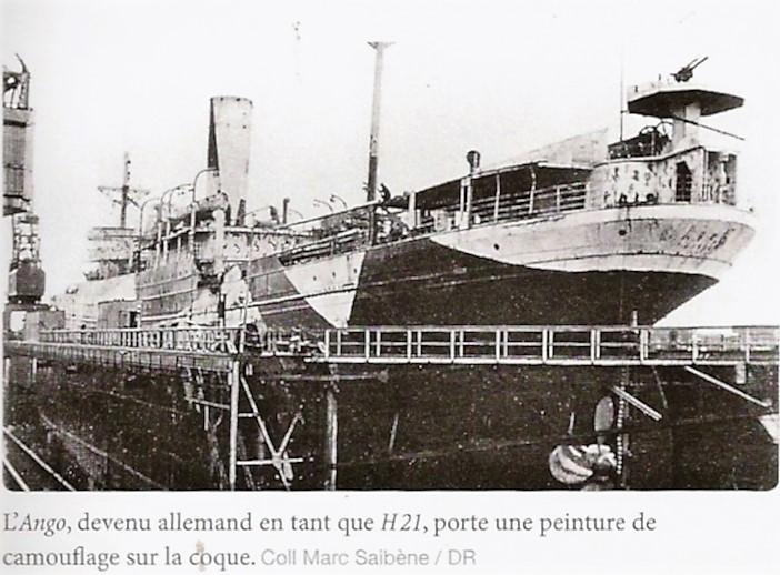 Le cargo armé Ango des Chargeurs Réunis, capturé à Bordeaux  H21_an10