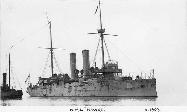 22 septembre 1914 le triplé d'Otto Weddigen  Hawke_10