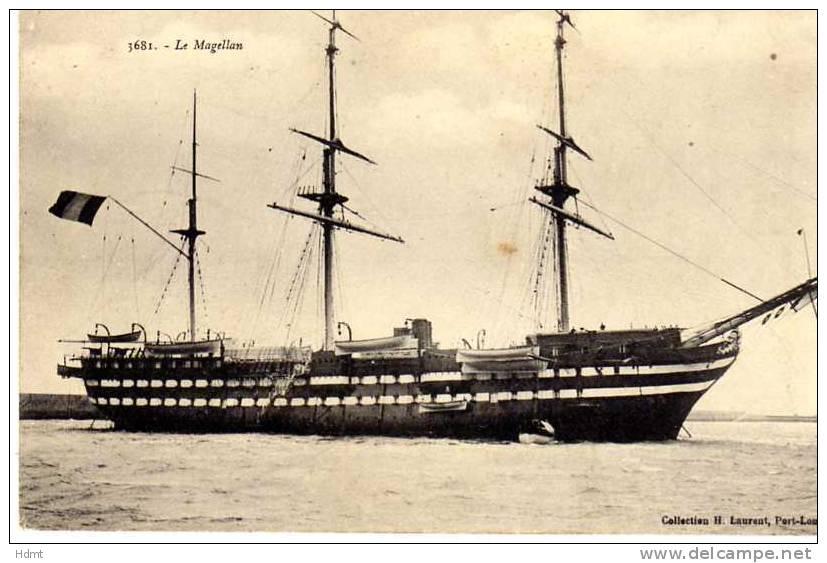 Les navires écoles français du XIX é à nos jours en photos  - Page 4 Magell10