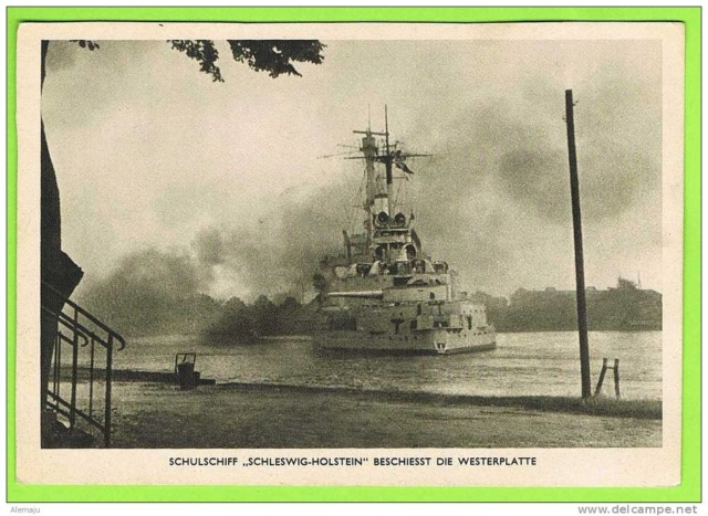 1 septembre 1939 le  Schleswig-Holstein à  Westerplatte  Schles12