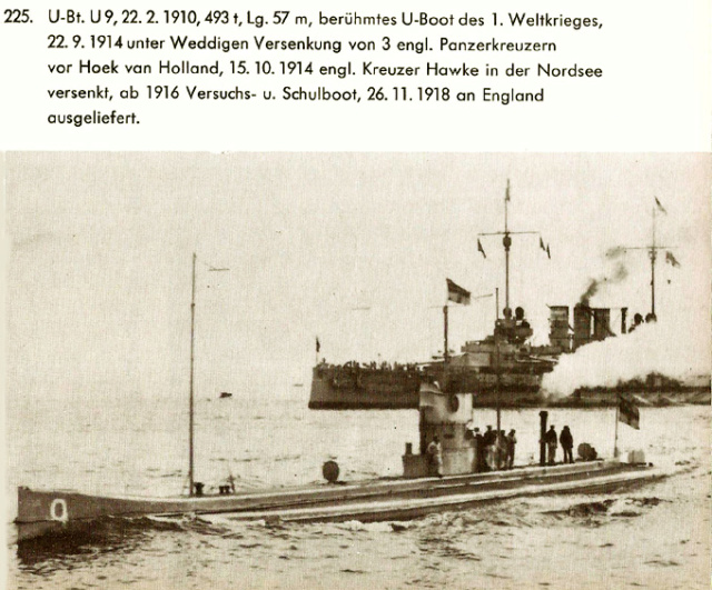 22 septembre 1914 le triplé d'Otto Weddigen  U-9_so10