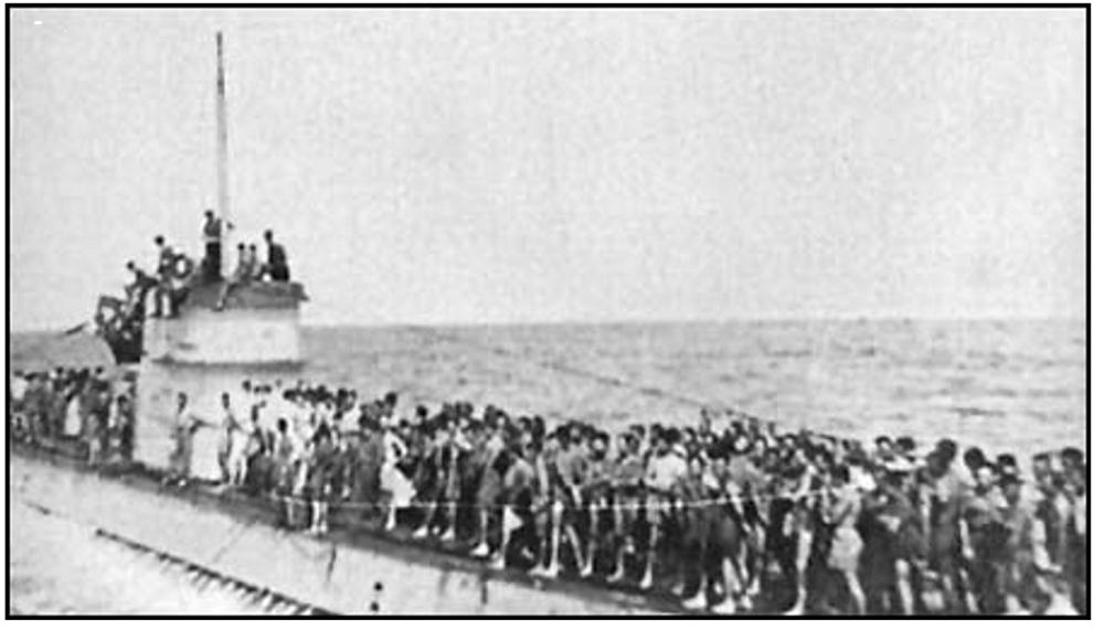 L'Affaire du LACONIA et le sauvetage par U156 U156_e11