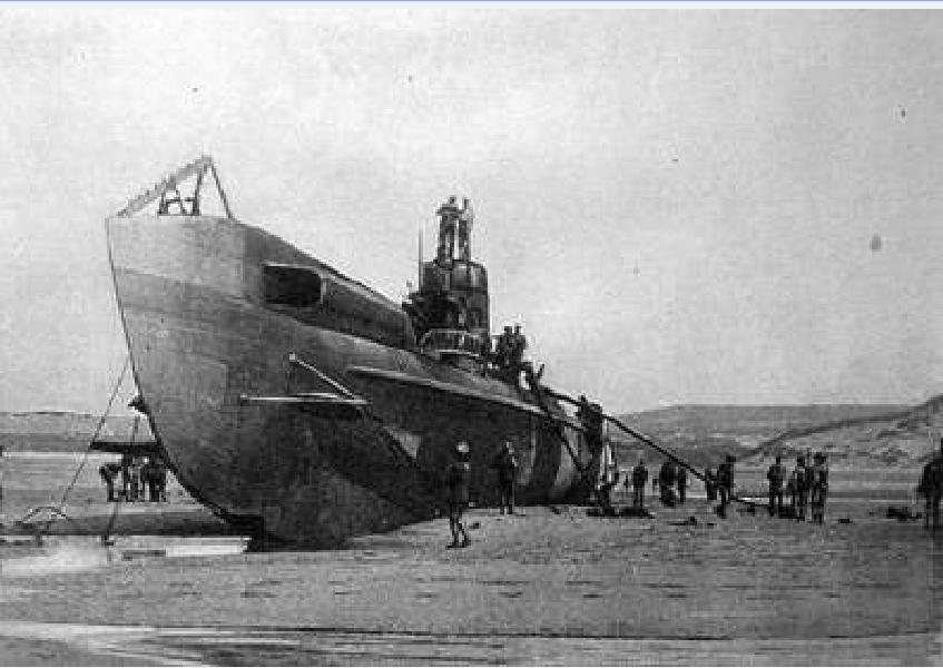 L'UC61 sabordé en 1917 réapparait sur la plage de Wissant Uc61_110
