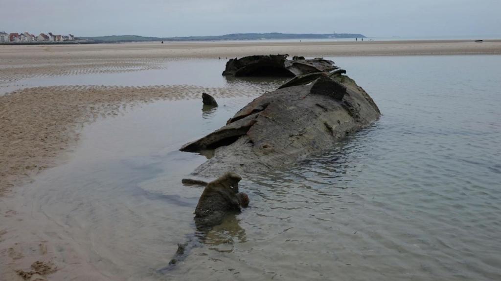 L'UC61 sabordé en 1917 réapparait sur la plage de Wissant Uc61_210