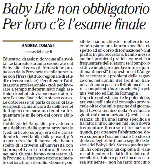 ARTICOLI E NEWS SUL BABY LIFE Cattur12
