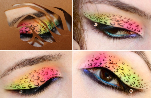 Acid Leopard Eyes (with cosmetics and brands) Leopar10