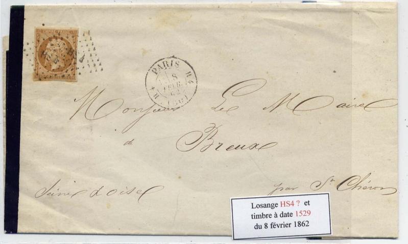 Losanges de PARIS 1852 /1863 chiffres bâton ou romaines File0012