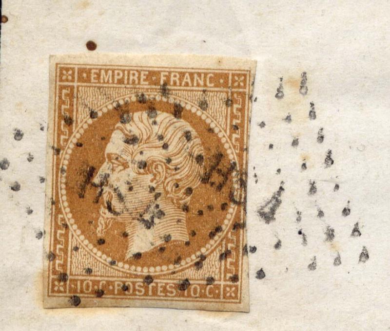 Losanges de PARIS 1852 /1863 chiffres bâton ou romaines File0013