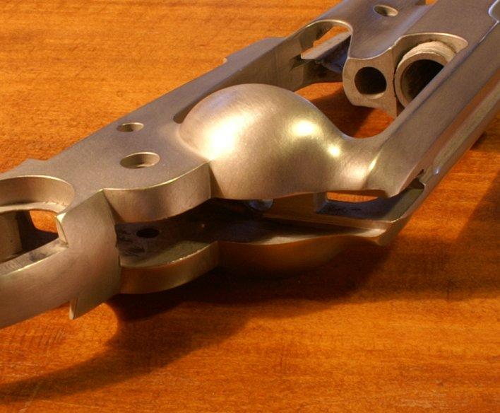 vieillir une arme en inox poli Sa410