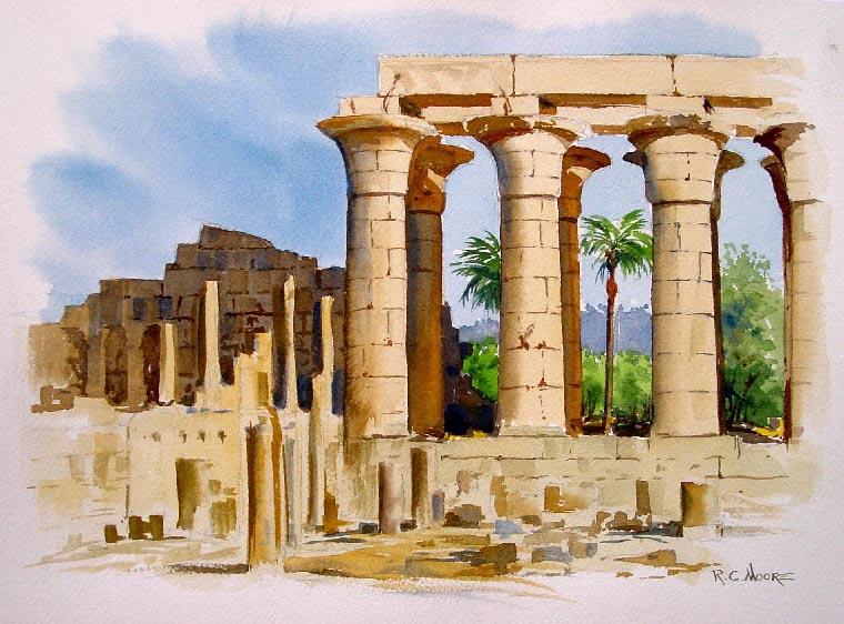 كونشرتو البيانو والاوركسترا رقم 5 المعروف باسم (الكونشرتو المصرى) مصنف 103 لسان صانص حصريا على اساطين النغم  Temple11