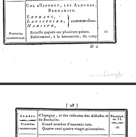 les campagnes de 1794 dans les Pyrénées Greens10