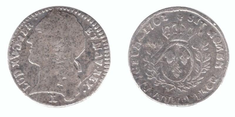 louis XV 1762 N au bandeau 1/10 ecu 1762_n11