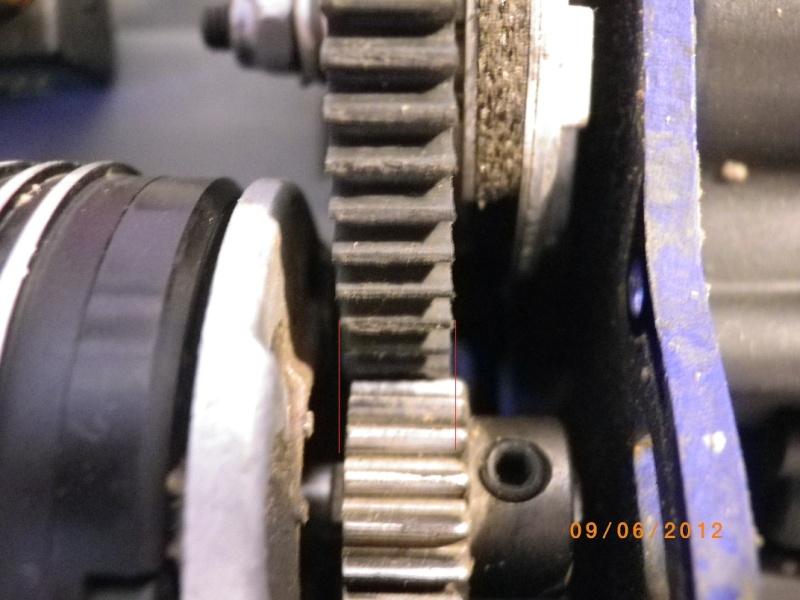 Réglage entredent entre dent - cloche pinion couronne 169