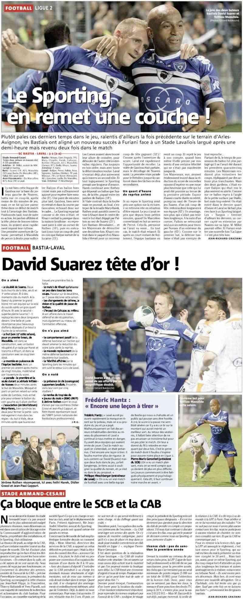[30 ème journée] Sc Bastia- Stade Lavallois 3103i10