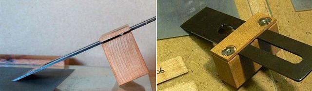 Приспособления для заточки ножей,  стамесок и ножей рубанков Ddndnd15