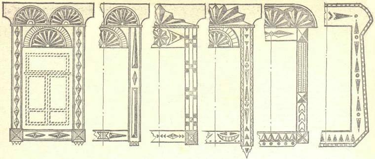 Орнамент - узоры наличников окон, ажурное обрамление крыльца Dnnddd24