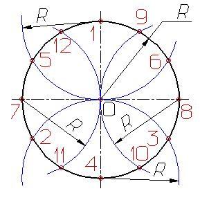 Деление окружности на равные части Dzdnnd11