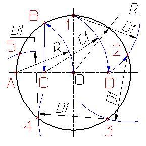 Деление окружности на равные части Dzdnnd12