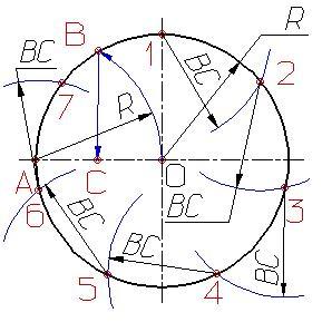 Деление окружности на равные части Dzdnnd13