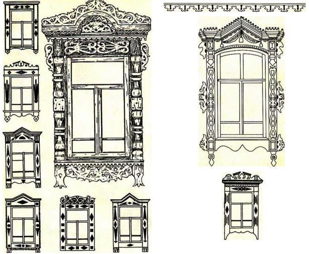 Орнамент - узоры наличников окон, ажурное обрамление крыльца Dznddd10