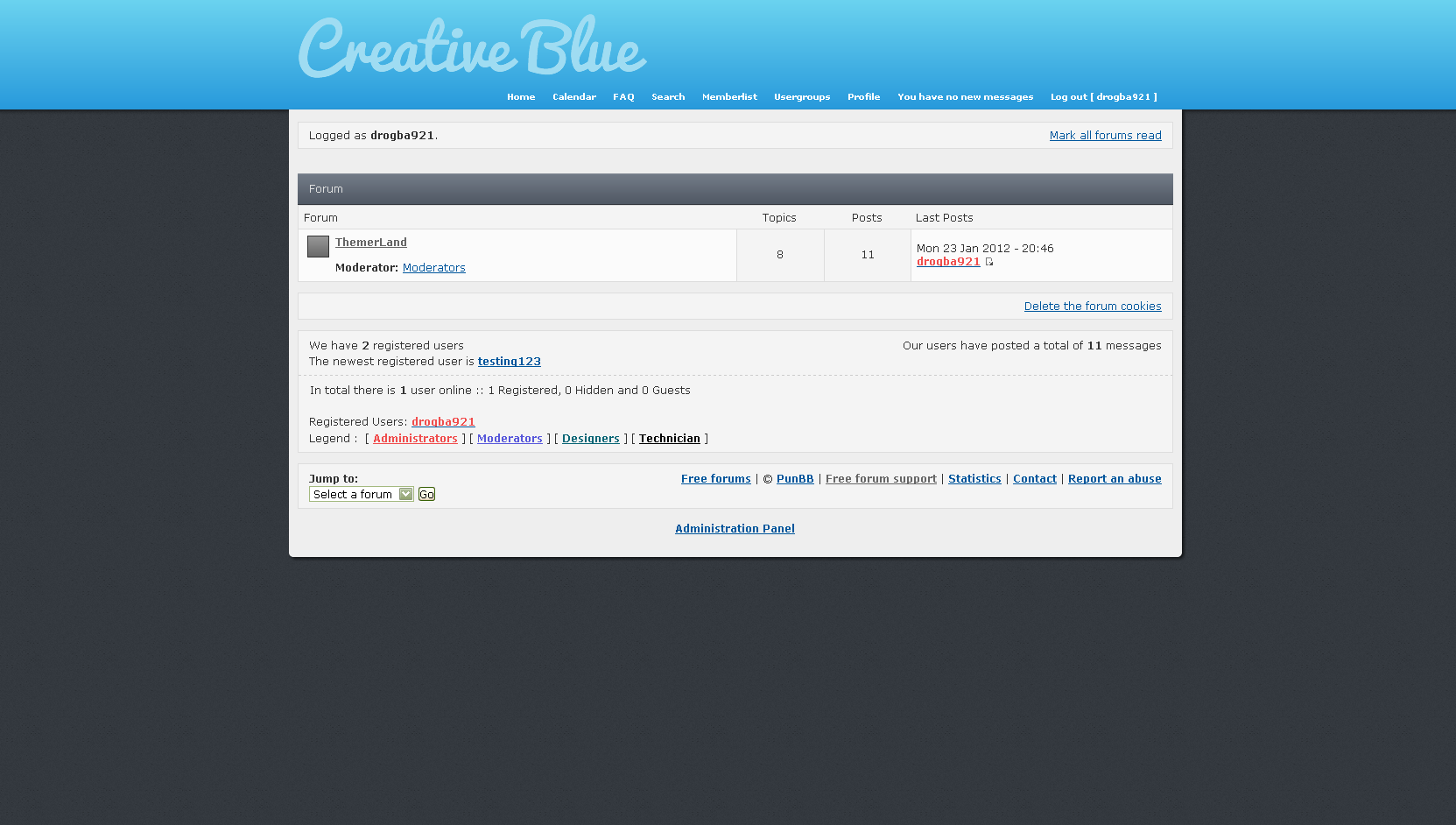 Creative Blue 14091110