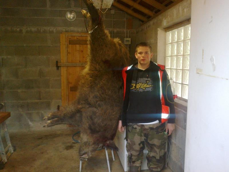 Ma premiere année de chasse et mon premier tire !!! sanglier 30102011