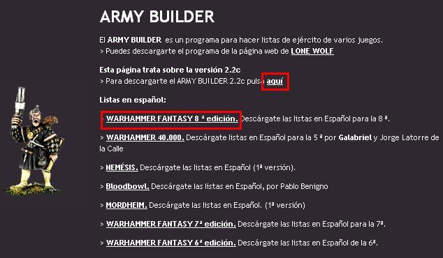 """[Guía] """"Generador de Rosters Army Builder 2.2c"""" Roster10"""