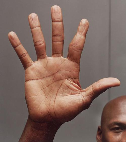 Michael 'Air' Jordan: hands of a basketball superstar! Hand-m11