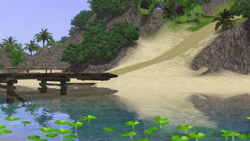 Création d'un pont arrondi avec l'outil Créer un monde. Screen13