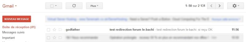 Redirection boite email du Forum 110