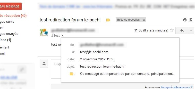 Redirection boite email du Forum 210