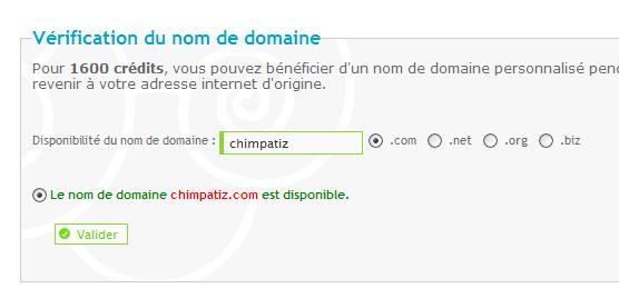 """Nom de domaine """"pris"""" mais invalide sur internet ! 28-02-11"""