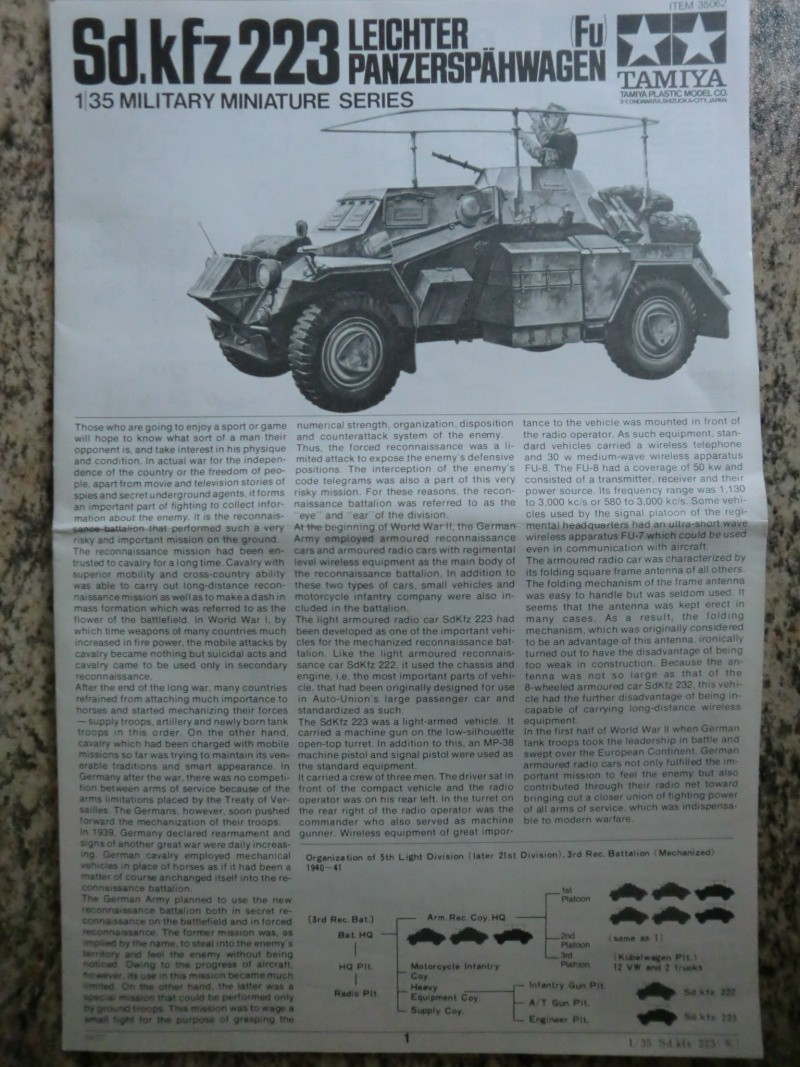 Sd.Kfz.223 Leichter Panzerspähwagen 1:35 Cimg3820