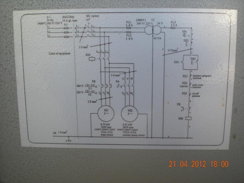 Acquisition et branchement d'une scie à ruban pour métaux Dscn2812