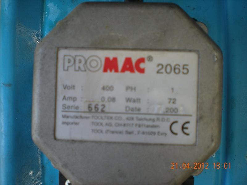Acquisition et branchement d'une scie à ruban pour métaux Dscn2814