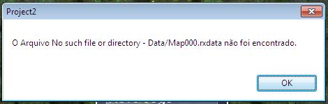"""Resolvendo o erro """"O arquivo - Data/Map000.rxdata não foi encontrado."""" Erroma10"""