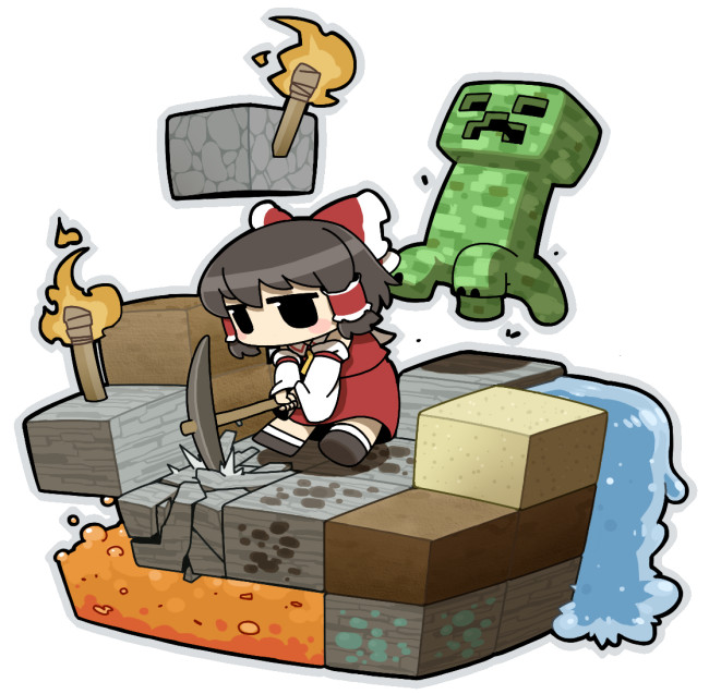 Videos: ¿Qué pasa cuando juntas a Touhou Project y Minecraft? Touhou10
