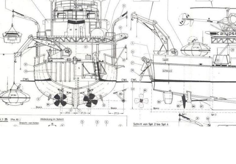 piani  -scr - la Calypso di cousteau autocostruita su piani museo della marina parigi - Pagina 3 Immagi36
