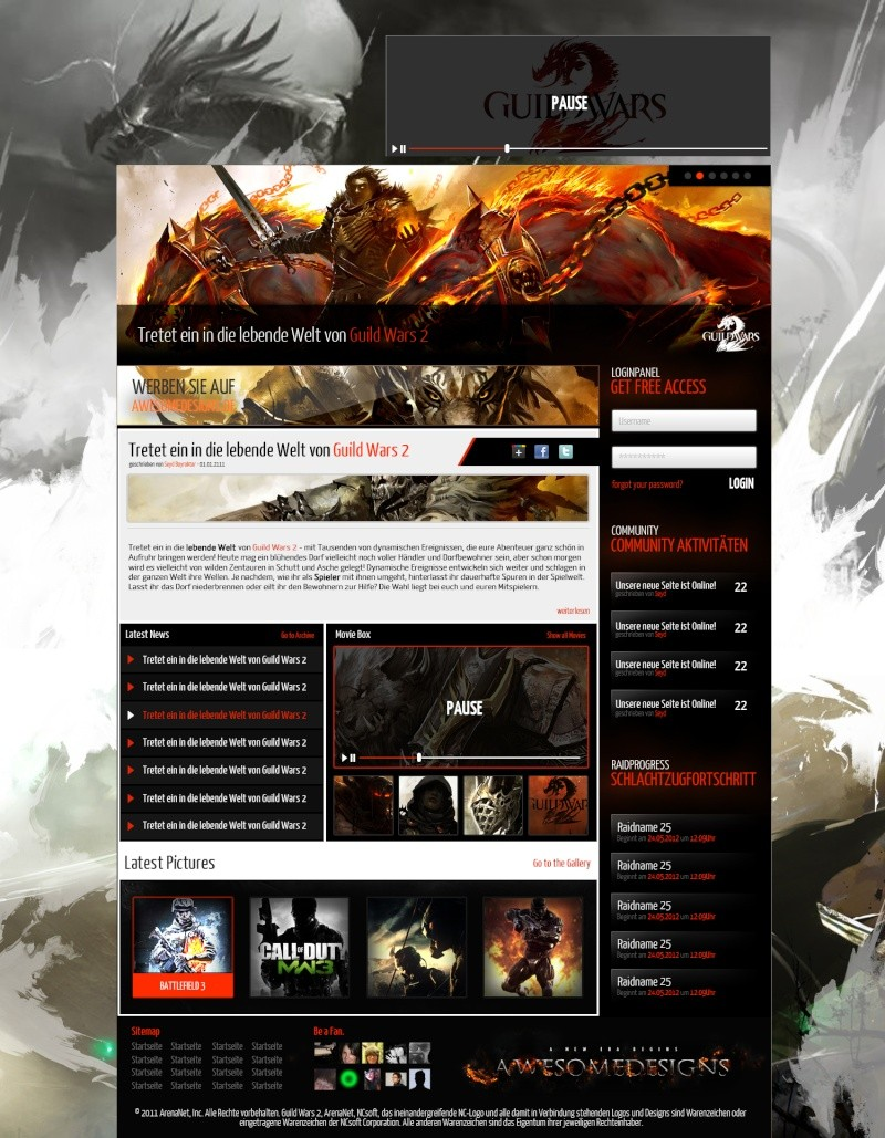 Design site GW2 Projet10