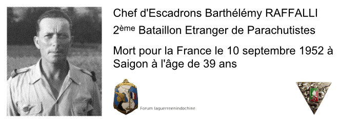Chef d'Escadrons Barthélémy RAFFALLI, 2éme BEP, MPLF en 1952 Dessin10