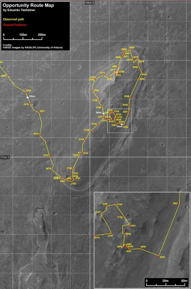 Opportunity et l'exploration du cratère Endeavour - Page 5 Image116