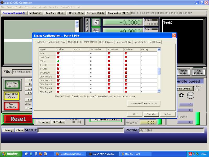 Configurando Mach3 M710