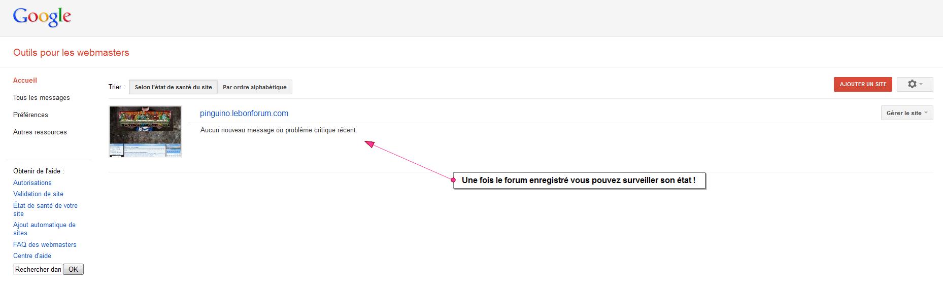 Nettoyer son forum après une alerte Google Outils19