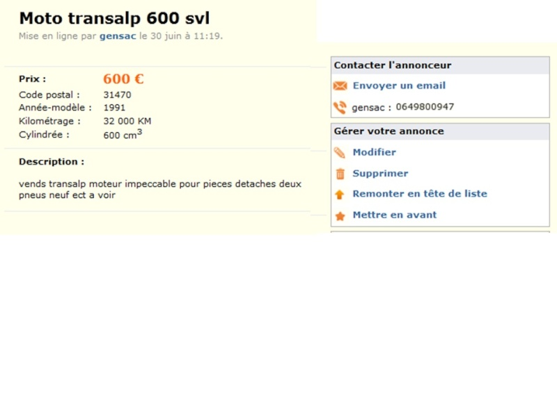 transalp le bon coin 600euros Diapos19