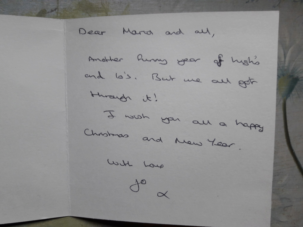 Jo's card and decoration to Maria and the forum 20181211