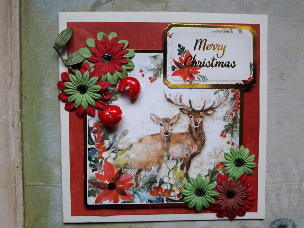 Jo's card and decoration to Maria and the forum 20181213