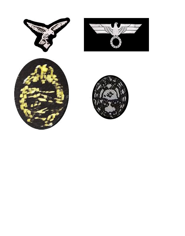 Repro/kitbash - fabric tunic decals Panzer10