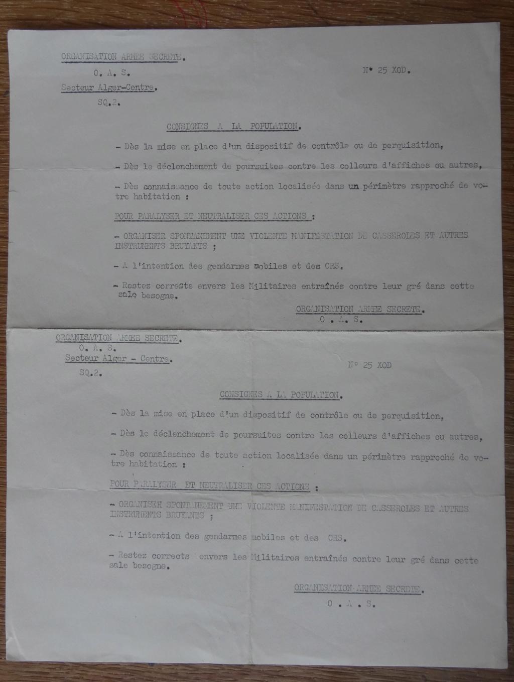 OAS - guerre d'Algérie - documents d'époque? Dsc01515